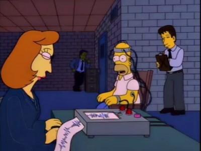 Гомер Симпсон и детектор лжи