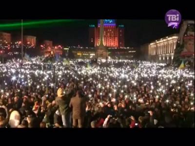 ''Гімн України'' 200 тисяч людей на #Євромайдан #Euromaidan #Евромайдан