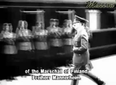 Маршал Маннергейм наносит ответный визит Гитлеру