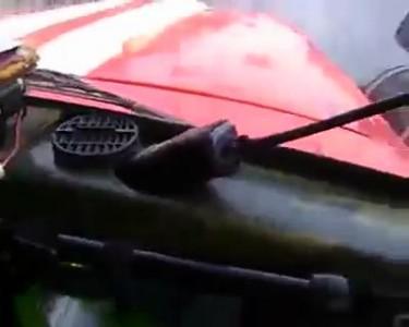 Как пропускают пожарную машину в России