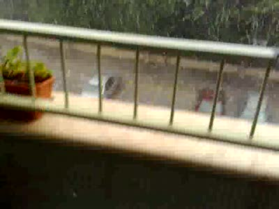 Сильный дождь с градом