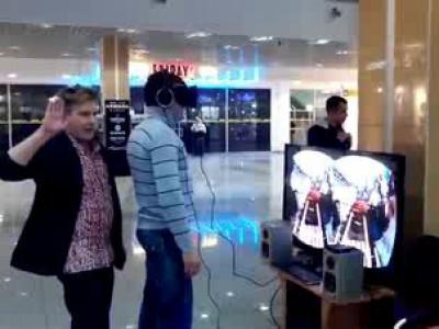 Алеша готовится к полету (Oculus Rift) \ Oculus Rift Prank