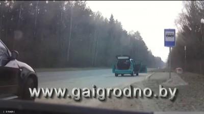 Погоня ГАИ за спортбайком в пригороде Гродно на скорости около 150 км/ч.