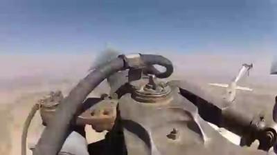 МИ-8. Редкие кадры работы лопасти в полете.