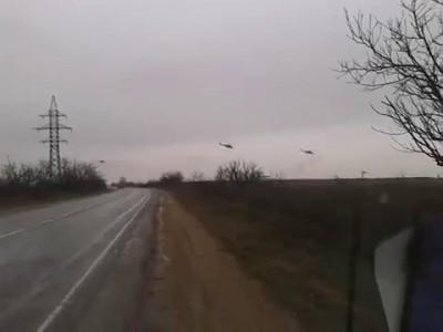 В Крыму появились неопознанные боевые вертолеты