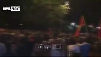 Многотысячный митинг в Черногории против вступления в НАТО