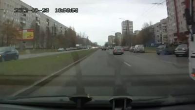 Хам на Калине учит нормальных водителей манерам