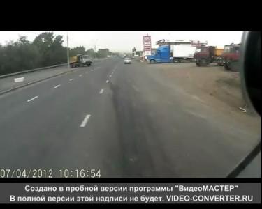 ДТП г. Оренбург 04.07.2012 - съемка из Икаруса