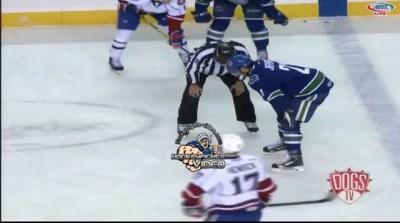 Jan 9, 2014 Andrey Pedan vs Jarred Tinordi Utica Comets vs Hamilton Bulldogs AHL