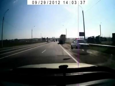 Жесть.ДПС.Полицейский разворот.Russian police.