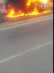 Авария двух Ауди а5 и а6 в Пекине