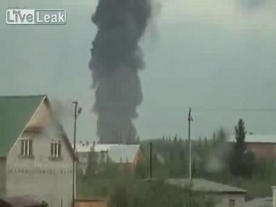 Взрыв склада с боеприпасами