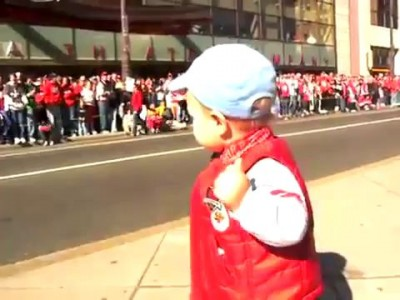Toddler Leads the Celebration