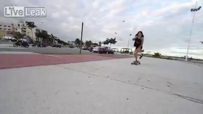 Скейтбордистка 80-го уровня