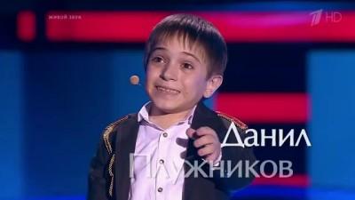 """Данил Плужников. """"Два орла"""" - Слепые прослушивания - Голос Дети - Сезон 3"""