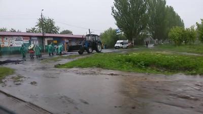 Дождливый ремонт дорог
