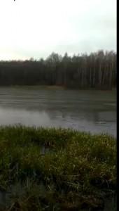 Звук тонкого гладкого льда на реке