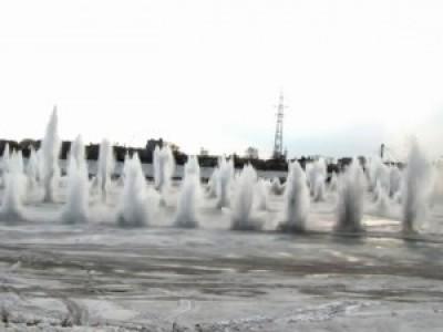 Взрыв льда в Кемерово. Март 2011 г.