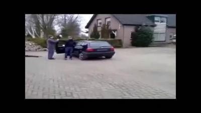 вырвали движок у VW Golf