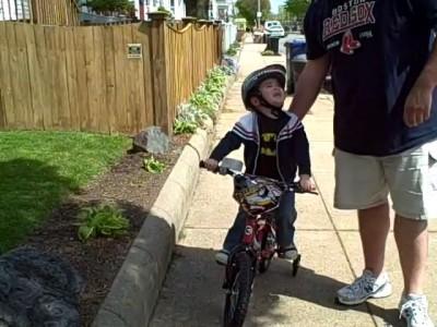 Первый раз на велосипеде