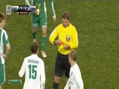 Кисенков плюнул в арбитра Егорова