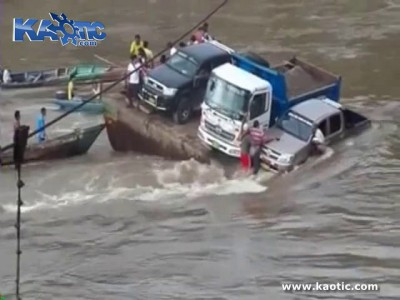 Джип утонул вместе с хозяином