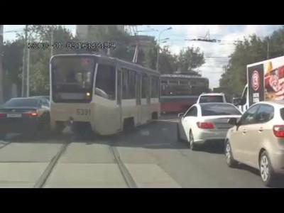Попал под два трамвая