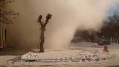 Прорыв водопровода в Тамбове