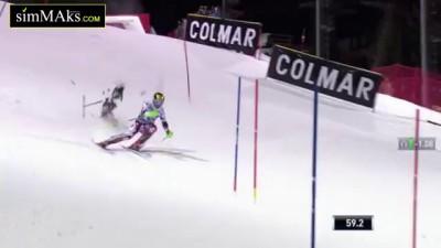 На Кубке мира по горнолыжному спорту на спортсмена упал беспилотный аппарат (Квадрокоптер).