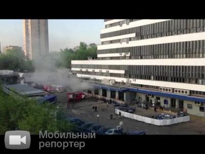 Пожар в главном здании Почты России. Утро второго дня