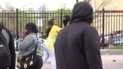 Mother beats son for participating in Baltimore riots