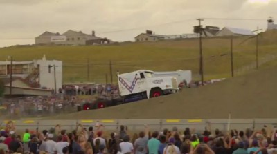 Gregg Godfrey jumps semi-truck 166 feet