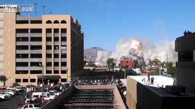 Снос здания Эль-Пасо