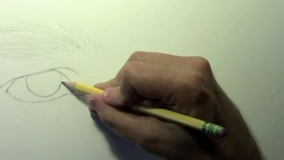 Self Portrait Eyes [Drawing Time Lapse]