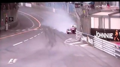 Massa Crash P3 GP Monaco 2013