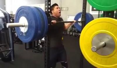 Weightlifter Buckles Under Heavy Load