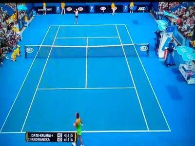 Агнешка Радванска  сломала ракетку на Australian Open.