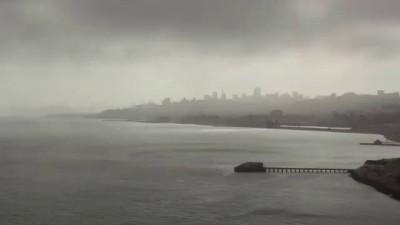 Тюрьма АЛЬКАТРАС Сан Франциско и Форт Пойнт Вид с моста Голден Гейт