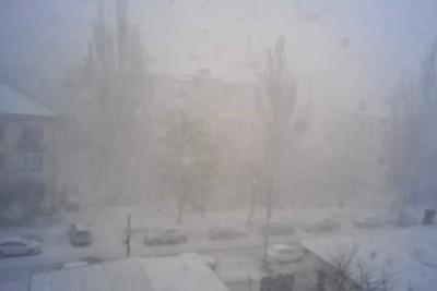 Симферополь снег