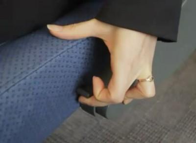 """Как опускается спинка кресла в """"Сапсане"""""""