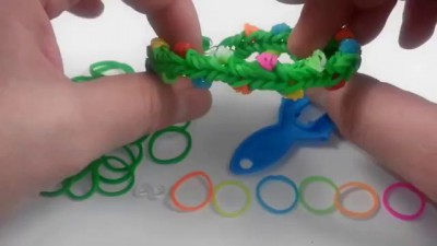 Armband Weihnachtsgirlanden Weaving Kaugummi Regenbogen Loom Bands