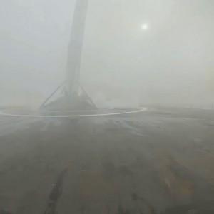 Падение первой ступени ракеты Falcon 9