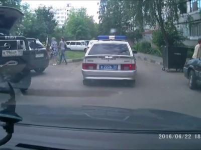 Таран автомобиля ППС