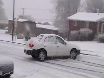 снежная каша на дороге