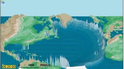 Atlantic Ocean Asteroid Tsunami Simulation - 3d.wmv
