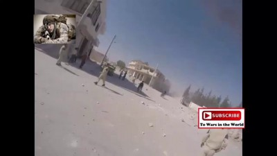 HD POV GoPro Footage Captures The Moment Alleged Airstrike Lands Close In Sarmin, Idlib