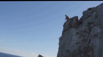 Прыжок со скалы 53 метра