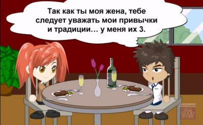 Man and woman talking Разговор мужа с женой