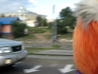 Белка на скутере