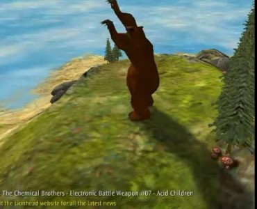 Танцующая медведь - плагин визуализации WinAMP